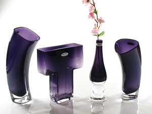 purple vases