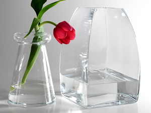conical vases